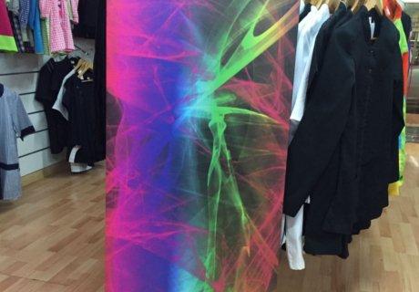 Panel de colores impreso sobre un lienzo