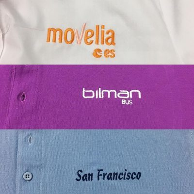 Logos bordados en camisetas