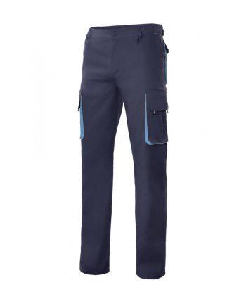 Pantalón bicolor multibolsillos serie 103004 color 61-5 azulnavy-celeste