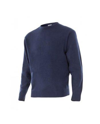 Jersey azul marino manga larga con cuello redondo