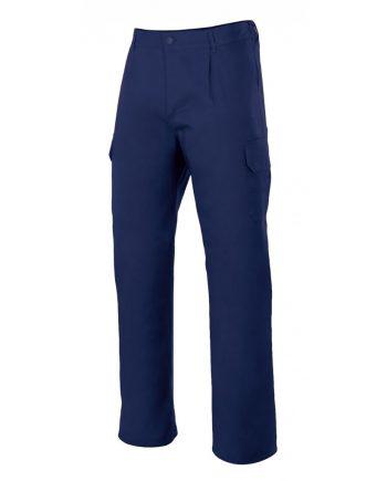 Pantalón multibolsillo serie 345 azul marino