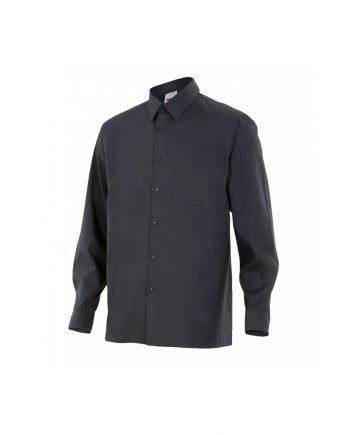 Camisa serie 529 manga larga negra