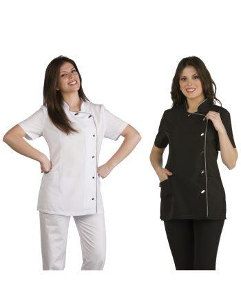 Dos mujeres con batas modelo 51307830 blanca y negra
