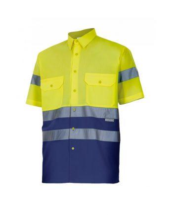 Camisa alta visibilidad 142 amarillo-azul marino 70