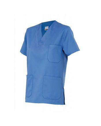 Camisola pijama manga corta modelo 589 color celeste 5