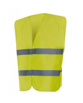 Chaleco alta visibilidad 14001 amarillo flúor