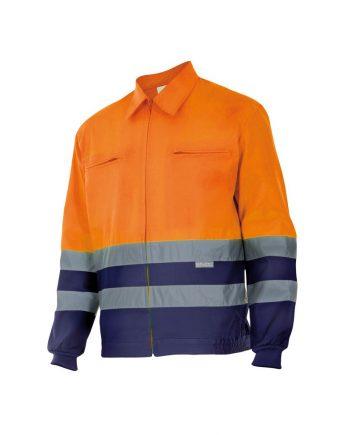 Chaqueta bicolor alta visibilidad 153 naranja-azul marino 210