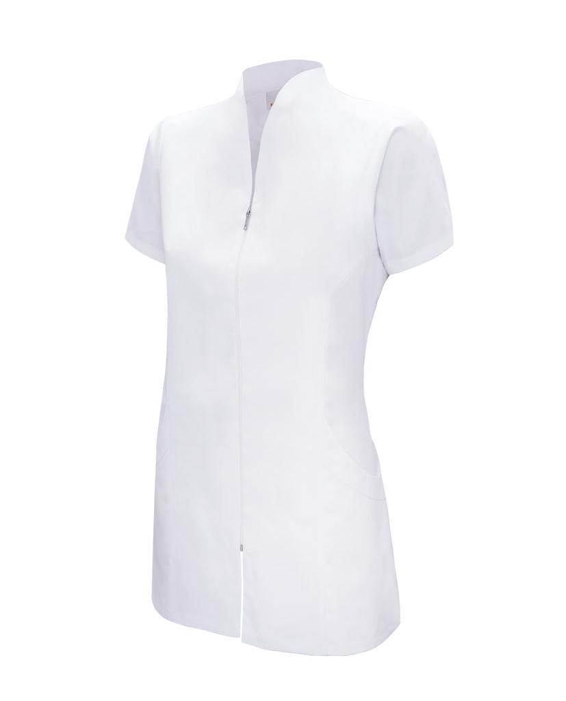 chaqueta blanca manga corta cremallera modelo 535203