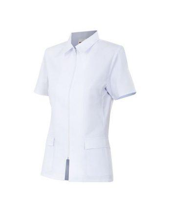 chaqueta manga corta cierre cremallera modelo 590 blanco 7