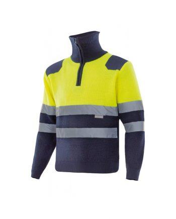 Jersey alta visibilidad bicolor 301001 amarillo - azulmarino 70