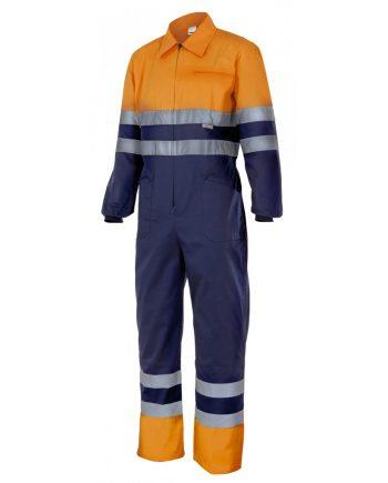 Mono alta visibilidad bicolor 151 naranja - azulmarino 210