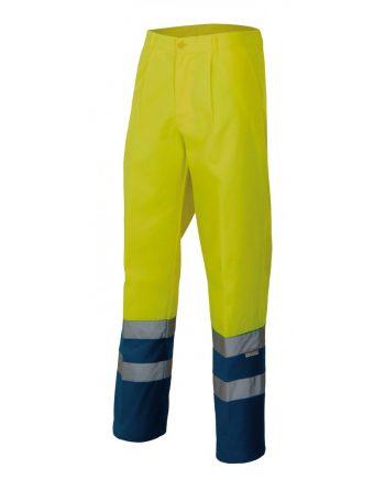Pantalón bicolor 158 amarillo- azul marino 70