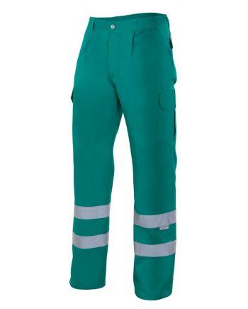 Pantalón multibolsillos alta visibilidad 159 verde 2