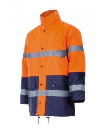 Parka bicolor alta visibilidad naranja-azul marino 70
