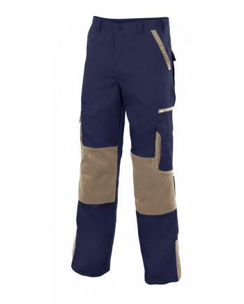 Pantalón bicolor multibolsillos reforzado serie plomo color 1-6 marino-beige