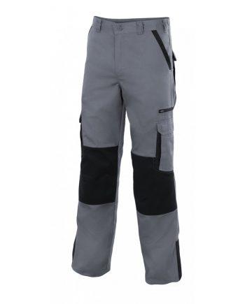 Pantalón bicolor multibolsillos reforzado serie plomo color 8-0 gris-negro