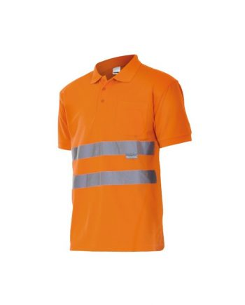 Polo manga corta alta visibilidad 172 naranja flúor 19