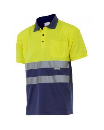 Camisa alta visibilidad 173 amarillo-azul marino 70