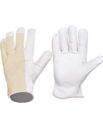 Guante protección piel algodón en color blanco