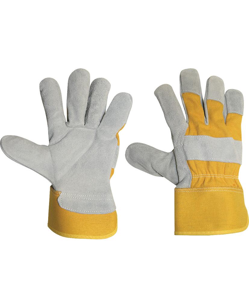 guante protección serraje naranja